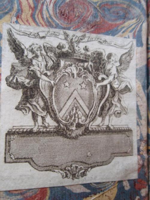 Ex-libris armorié.