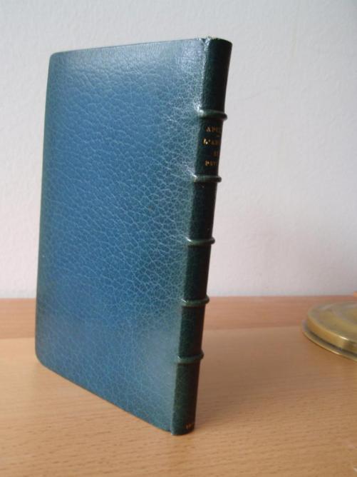 Un maroquin bleu du XIXe siècle